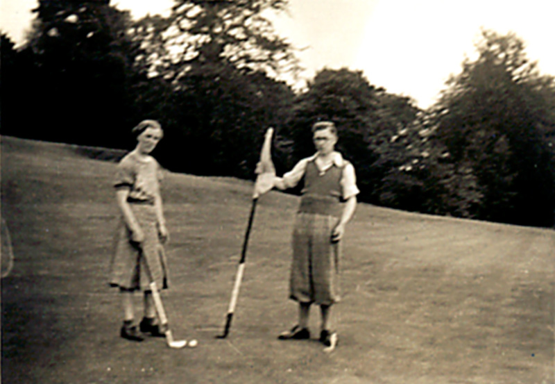 My parents playing at Crieff GC 1940.